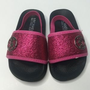 Michael Kors kids slide sandals